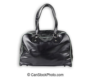 Black Leather bag isolate