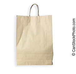 Recyclable paper bag isolated