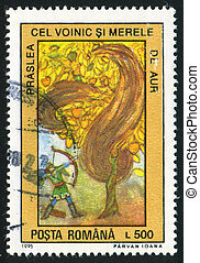 Fairy Tales - ROMANIA - CIRCA 1996: stamp printed by...