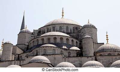 Dome of Blue mosque - Sultan Ahmet Camii or Blue mosque was...