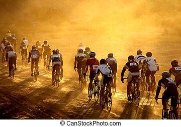 bicicleta, carrera