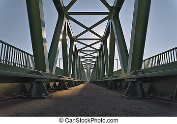 Infinity - Railroad bridge details, with symmetrical metal...