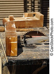 carpenter tools after a work