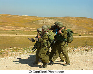 injured soldier - exercise of israel defence forces