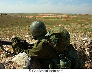 Israeli soldier exercise