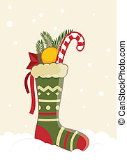 Christmas Stocking - Greeting card - Christmas Stocking