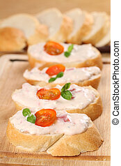 Tomato spread - Healthy sandwiches with delicious tomato...
