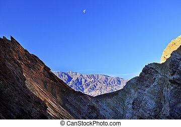 Golden Canyon Moon Death Valley National Park California