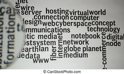 Word Cloud Social Network / Internet / Community