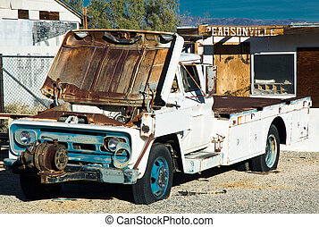 The Skirt's Up - Abandoned truck in the high desert town of...