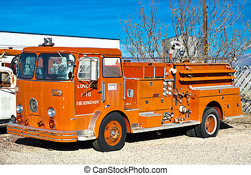 Vintage Fire Truck - Vintage engine number 10 of the Lone...