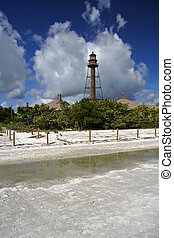 Sanibel Island Lighthouse - View of the old Sanibel Island...