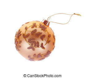 Christmas Tree Bauble with clipping path - Christmas tree...