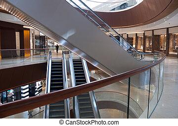 Modern architecture interior - Modern shopping center...