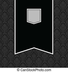 Vector Black Banner Frame and Background