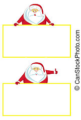 Smiling Santa with copy space showing thumbs up
