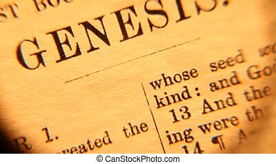 Holy bible - Close up of old Holy bible