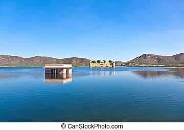 Water Palace (Jal Mahal) in Man Sagar Lake. Jaipur,...