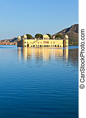 Water Palace Jal Mahal in Man Sagar Lake Jaipur, Rajasthan,...