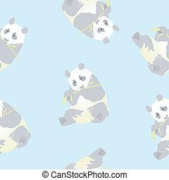 Seamless texture of a panda