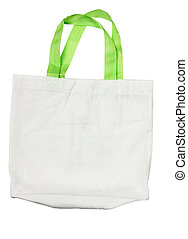 Fabric bag isolate on white background