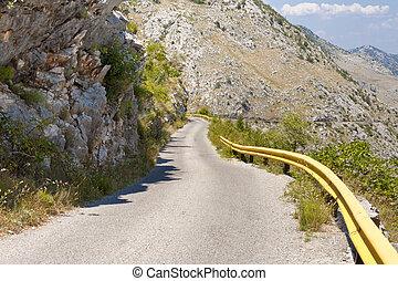 Mountain route to Skadarsko lake. Montenegro