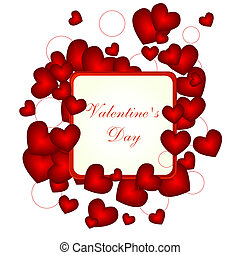 vector love background with place for your text.