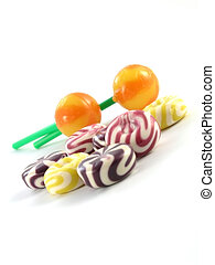sweet food - colorful sweet food on white background