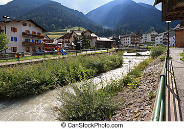 Pozza di Fassa - Pozza, small village in Fassa Valley,...