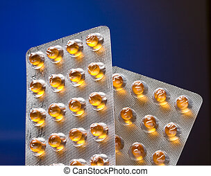 Oil pills in a pack