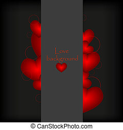 vector love banner with place for your text.