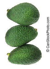 Stack of Avocado  - Stack of Avacado on White Background
