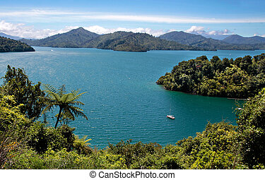 Marlborough Sounds near Picton, South Island, New Zealand