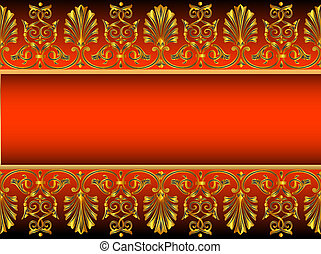 background with gold(en) antique pattern