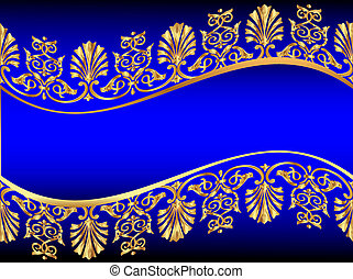 background with golden pattern - illustration frame...