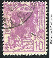Street in Kasbah - ALGERIA CIRCA 1926: stamp printed by...