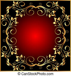 frame background with gold(en)  pattern
