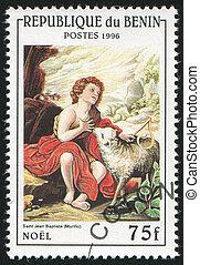 John the Baptist - BENIN CIRCA 1996: stamp printed by Benin,...