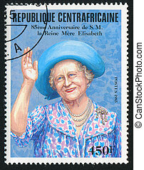 Elizabeth - CENTRAL AFRICAN REPUBLIC 1985: stamp printed by...