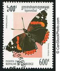 butterfly - CAMBODIA - CIRCA 1995: stamp printed by...