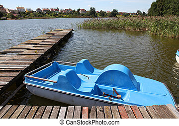 Pedalo - Masuria (Mazury) - famous lake district in Poland....