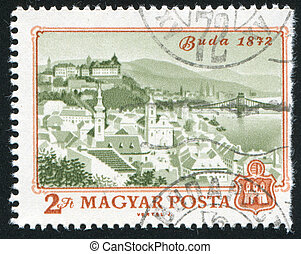 Buda - HUNGARY - CIRCA 1972: stamp printed by Hungary, shows...