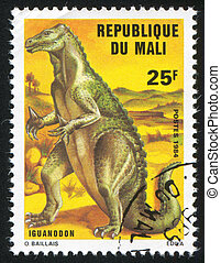 Iguanodon - MALI - CIRCA 1984: stamp printed by Mali, shows...