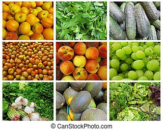Fruits and vegetables Collections, wallpaper, background