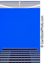 Corporate Buildings - Looking up at corporate buildings with...