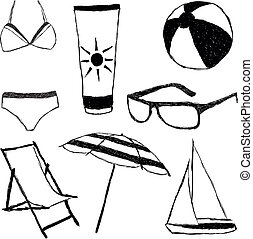 summer doodle collection