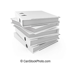Folder stack - Illustration of white blank folder stack
