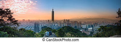 Full view of Taipei city, Taiwan - A view to a beautiful and...