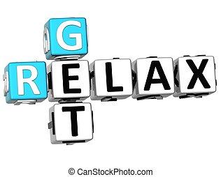 3D Get Relax Crossword