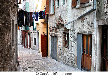 Rovinj, Croatia - Croatia - Rovinj on Istria peninsula. Old...